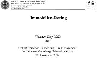 Immobilien-Rating