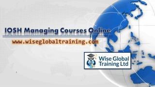 IOSH Managing Courses Online