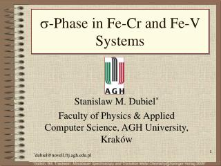 ?-Phase in Fe-Cr and Fe-V Systems