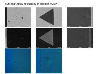 SEM and Optical Microscopy of Indented FGNP