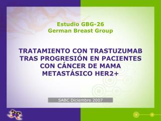 Estudio GBG-26 German Breast Group