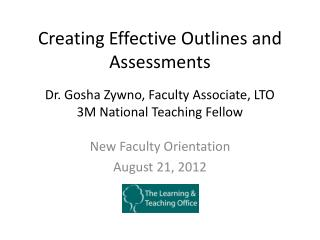 Creating Effective Outlines and Assessments