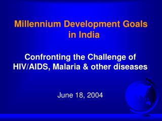 Millennium Development Goals in India