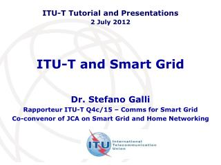 ITU-T and Smart Grid