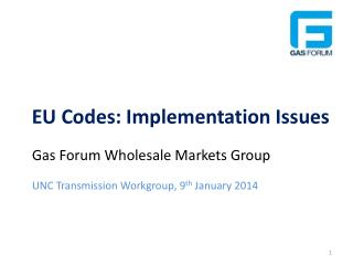 EU Codes: Implementation Issues
