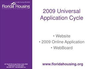 2009 Universal Application Cycle
