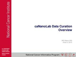 caNanoLab Data Curation Overview