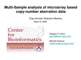 Multi-Sample analysis of microarray based copy-number aberration data