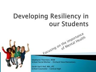 Developing Resiliency in our Students