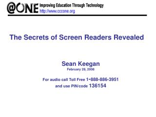 The Secrets of Screen Readers Revealed