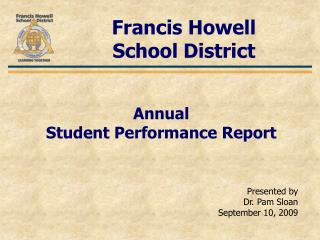 Annual  Student Performance Report