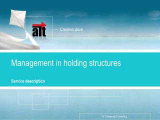 Management in holding structures
