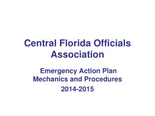 Central Florida Officials Association