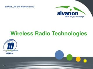 Wireless Radio Technologies