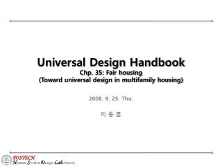 Universal Design Handbook Chp. 35: Fair housing (Toward universal design in multifamily housing)