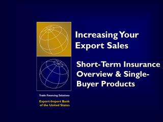 Increasing Your Export Sales