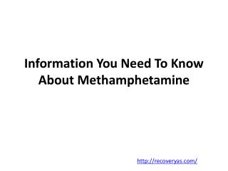 Methamphetamine recovery