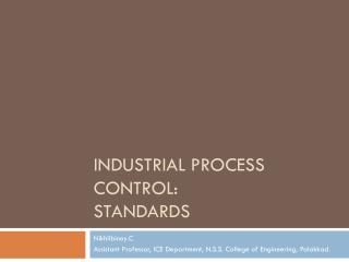 Industrial Process Control: Standards