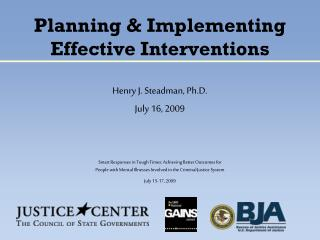 Planning & Implementing Effective Interventions