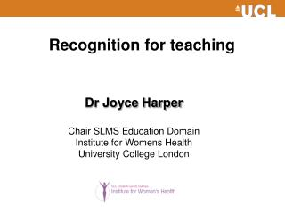 Recognition for teaching
