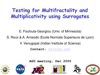 Testing for Multifractality and Multiplicativity using Surrogates
