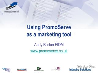 Using PromoServe as a marketing tool