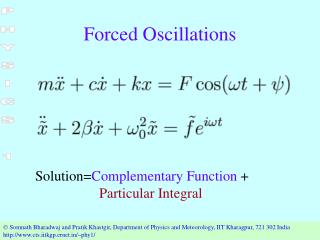 Forced Oscillations
