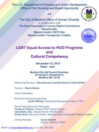 The U.S. Department of Housing and Urban Development Office of Fair Housing and Equal Opportunity