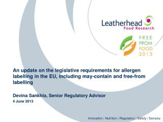 EU Allergen Labelling Legislation
