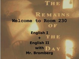 Welcome to Room 230