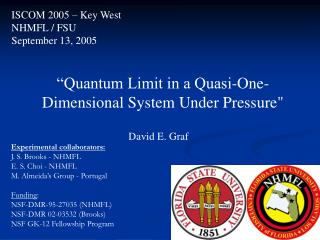 """Quantum Limit in a Quasi-One-Dimensional System Under Pressure"""