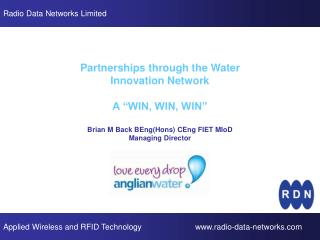 "Partnerships through the Water Innovation Network A ""WIN, WIN, WIN"""