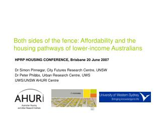 Both sides of the fence: Affordability and the housing pathways of lower-income Australians