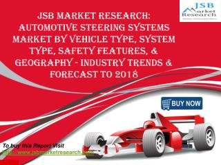 JSB Market Research: Automotive Steering Systems Market