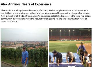 Alex Anninos-Years of Experience