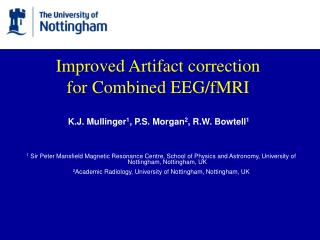 Improved Artifact correction for Combined EEGfMRI