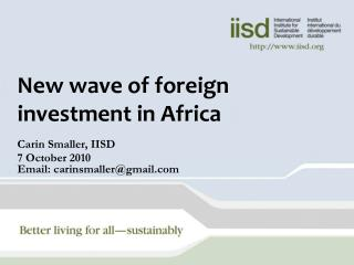 New wave of foreign investment in Africa
