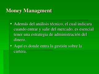 Money Managment