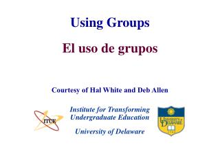 Using Groups