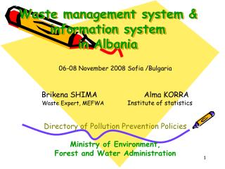 Waste management system & information system  in Albania
