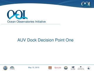 AUV Dock Decision Point One