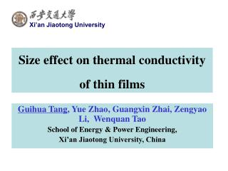Size effect on thermal conductivity of thin films