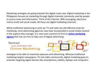 Using Digital Marketing Strategies