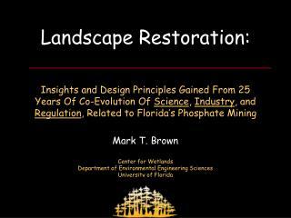 Landscape Restoration: