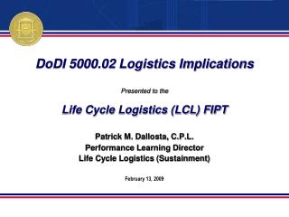 DoDI 5000.02 Logistics Implications