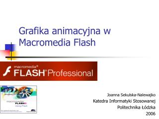 Grafika animacyjna w Macromedia Flash
