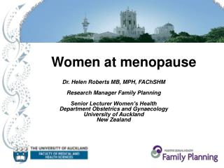 Women at menopause