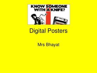 Digital Posters