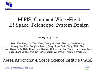 MIRIS, Compact Wide-Field  IR Space Telescope System Design