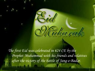 Eid is also a time of forgiveness, and making amends.